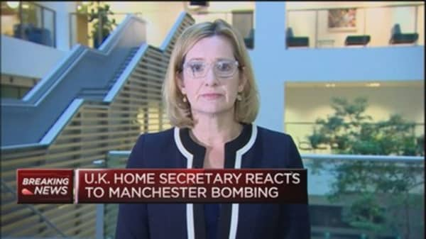 A 'barbaric attack' seen in Manchester: UK Home Secretary