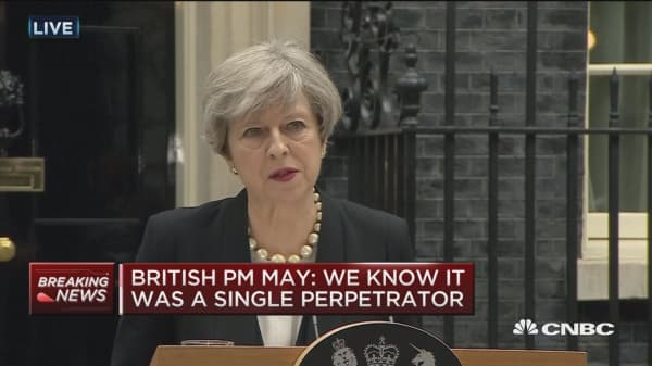 PM May: Police believe UK attack carried out by one man