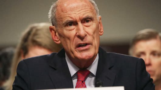 Director of National Intelligence Agency Dan Coats testifies during a Senate Armed Services Committee hearing on Capitol Hill, May 23, 2017 in Washington, DC.