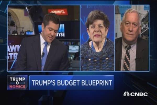 Former Fed No. 2 Rivlin calls Trump's budget assumptions of 3% growth 'very optimistic'