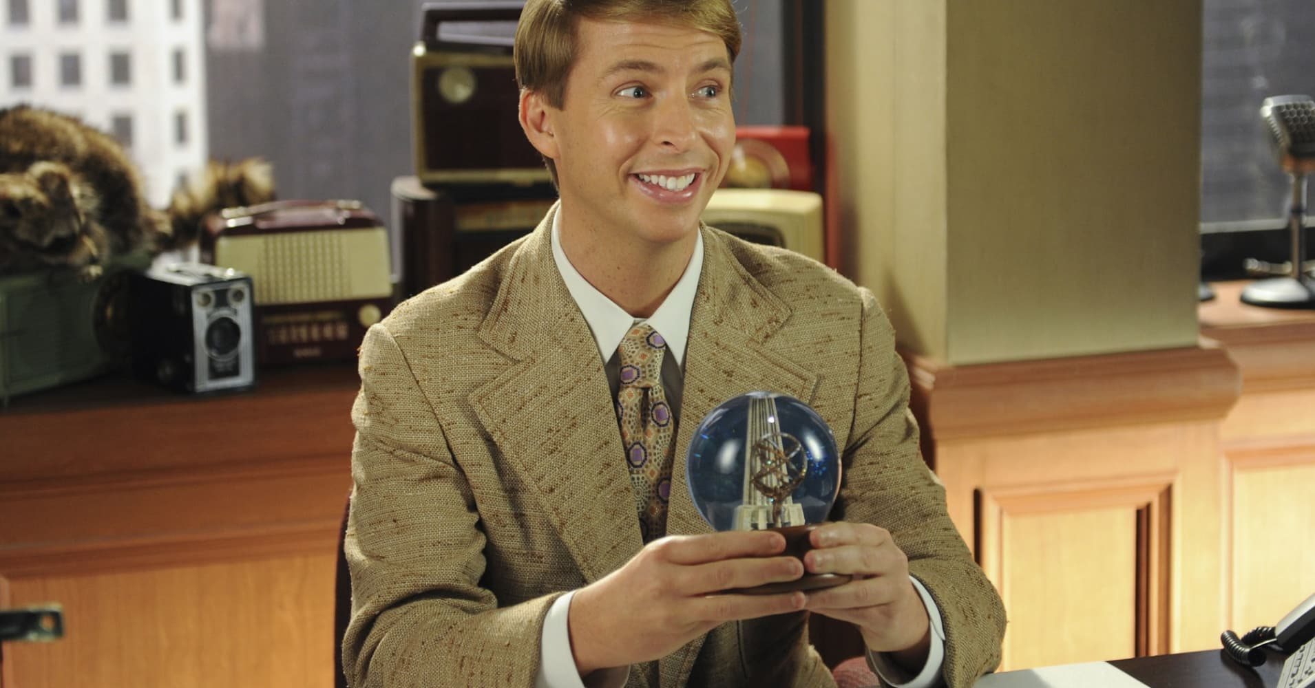 "Jack McBrayer as the pure-of-heart Kenneth Parcell on ""30Rock."""