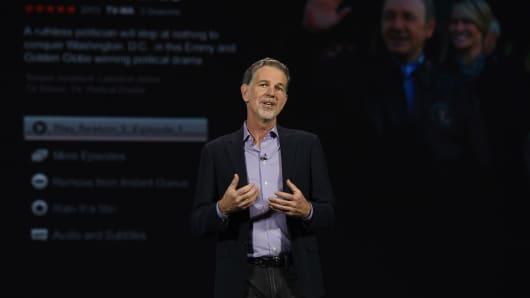 Netflix CEO Reed Hastings: We spend money more like a media company than a tech company