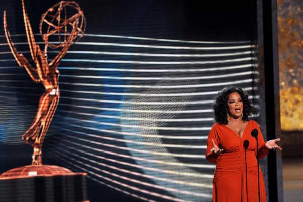 Oprah Winfrey opens the 60th Primetime Emmy Awards in 2008.