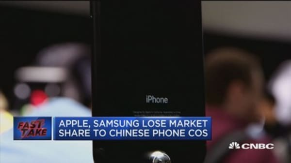 Apple, Samsung lose market share to Chinese phone