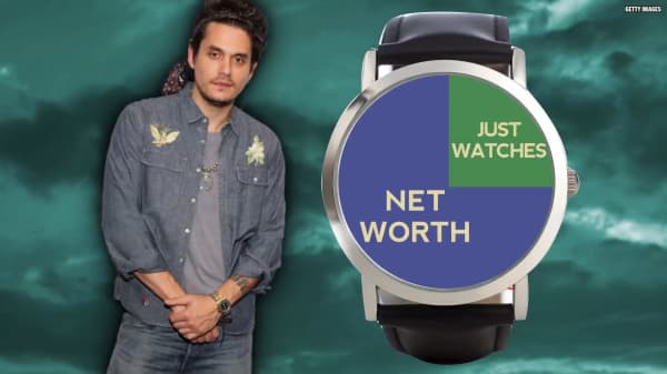 John Mayer dedicated 25 percent of his net worth to watches