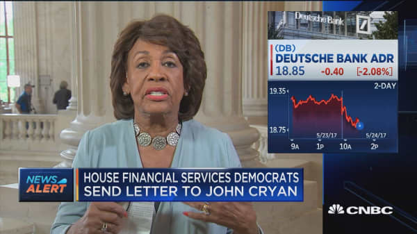 Rep. Waters: Want Deustsche Bank to volunteer info, but Trump-Russia connections are inevitable