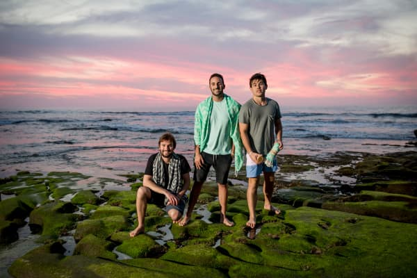 Sand Cloud co-founders Bruno Aschidamini, Brandon Leibel and Steven Ford (L to R)