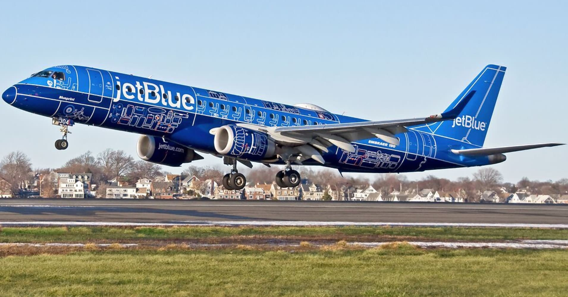 JetBlue Blueprint plane.