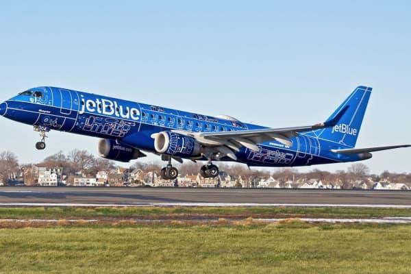 JetBlue Blueprint plane.