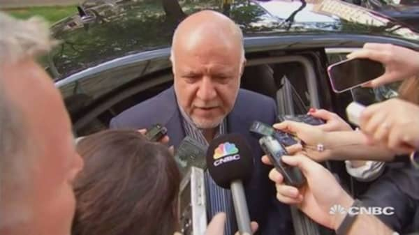 Iran oil minister on OPEC's nine-month output cuts