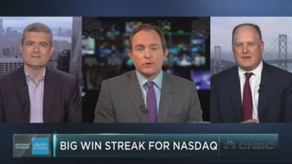 Nasdaq on historic win streak