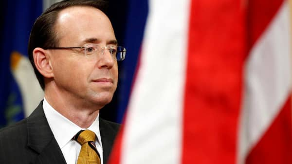 Deputy U.S. Attorney General Rod J. Rosenstein