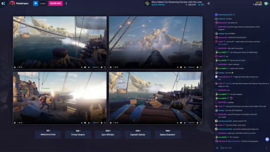 The co-streaming feature in Microsoft's Mixer app, which was previously known as Beam.