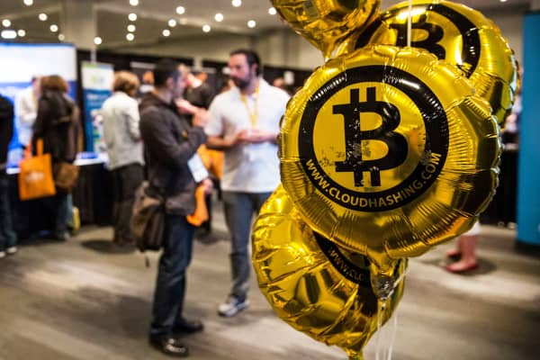 A Bitcoin conference in New York.