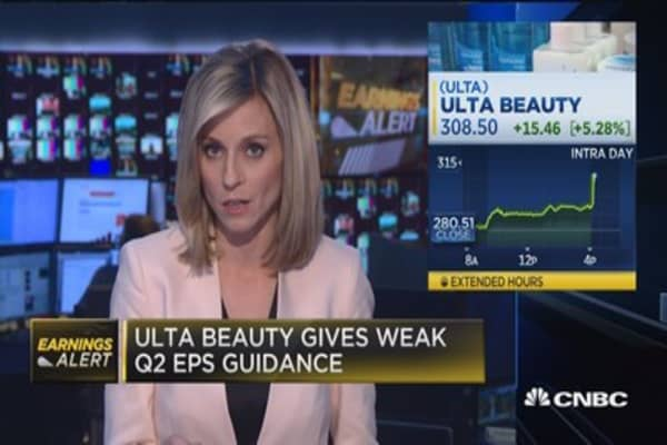 Ulta Beauty beats on bottom line