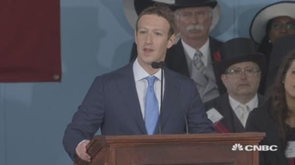 Mark Zuckerberg delivers emotional commencement speech at Harvard