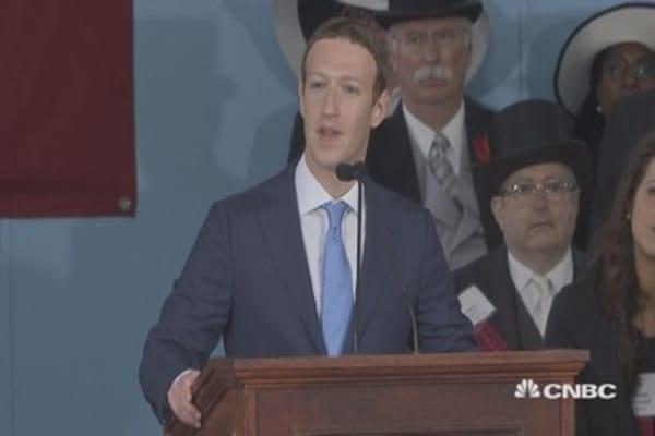 Mark Zuckerberg delivers emotional commencement speech at Harvard