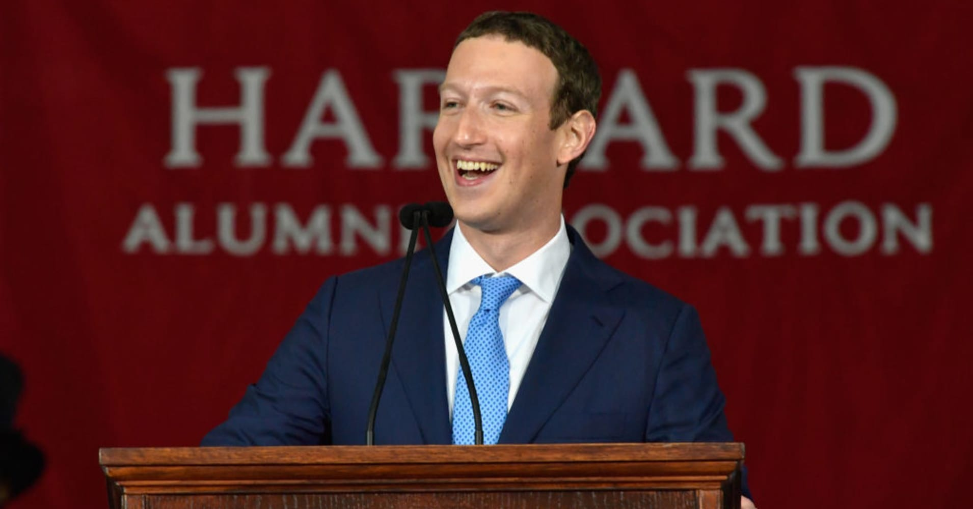 Facebook Founder and CEO Mark Zuckerberg delivers the commencement address at Harvard's 366th commencement.