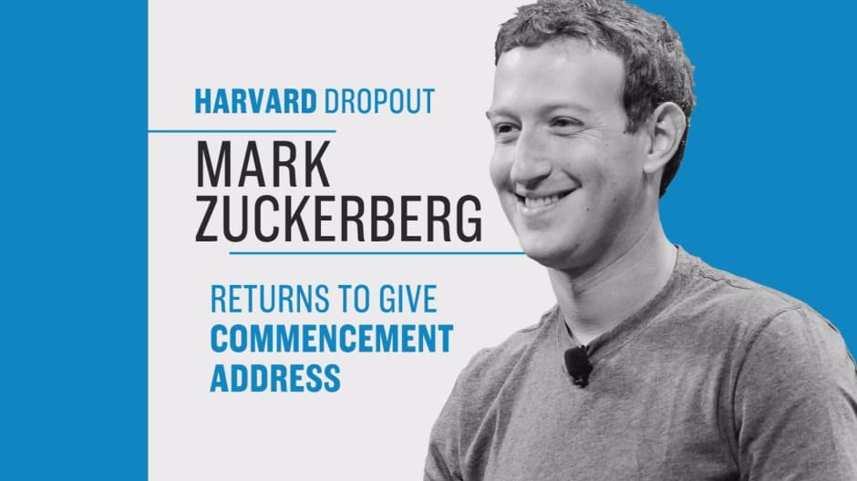 Facebook's Mark Zuckerberg delivers Harvard graduation speech