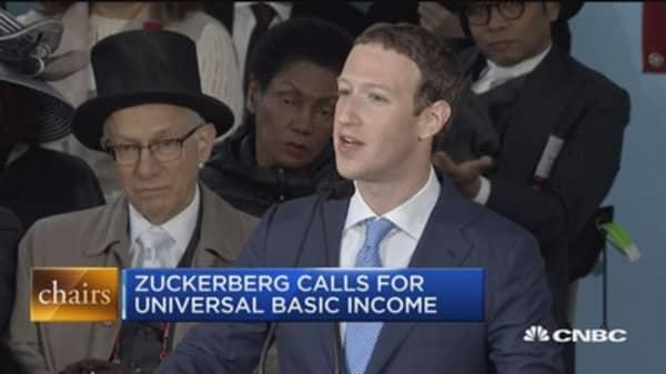 FB's Zuckerberg calls for universal basic income