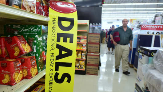 People shop for deals at a Big Lots retail store in Alhambra, California.