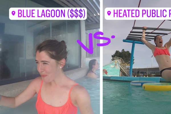 What the Blue Lagoon had in luxurious spa amenities, the public pool made up for in fun