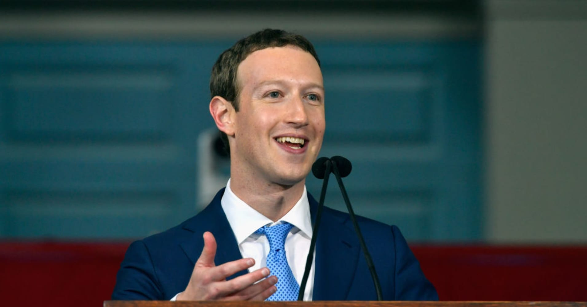 Facebook Founder and CEO Mark Zuckerberg delivers the commencement address at Harvard's 366th commencement exercises on May 25, 2017 in Cambridge, Massachusetts
