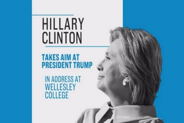 Hillary Clinton delivers Wellesley College's commencement address