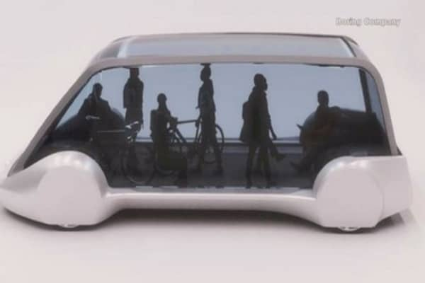 Elon Musk's Boring Company released pictures of new electric vehicle concept