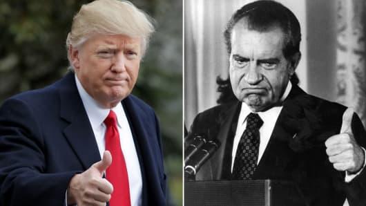 President Donald Trump and President Richard Nixon.