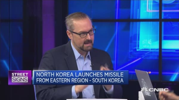 Market reaction to N.Korea missile