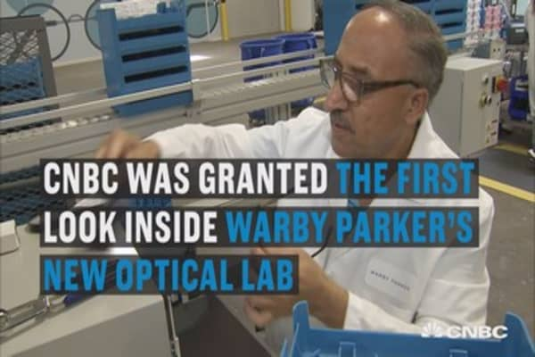 Setting up it's brand new optical lab, Warby Parker is vying to keep the cost down