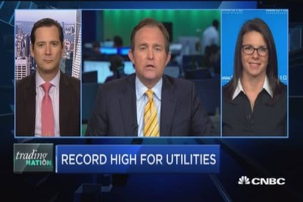 Trading Nation: Record high for utilities