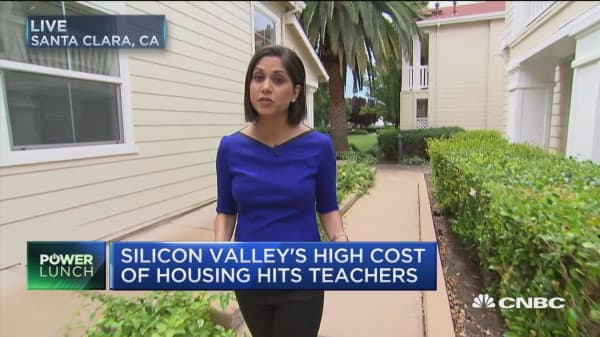 Silicon Valley's housing crunch hits teachers