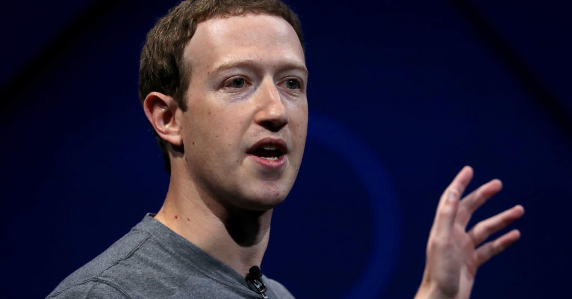 Mark Zuckerberg, CEO of Facebook