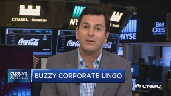 Buzzy corporate lingo
