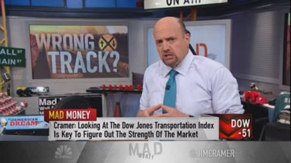 Cramer explains how the Dow Jones Transports are blocking a major rally