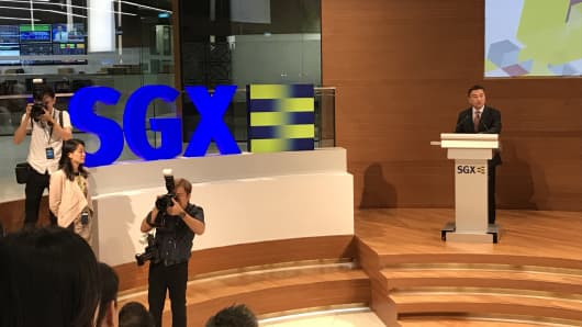 SGX CEO Loh Boon Chye speaks after the exchange announced its latest effort to attract more IPOs.