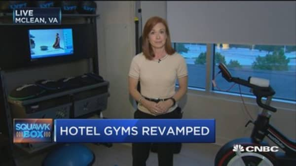 Check out Hilton's new line of fitness hotel rooms