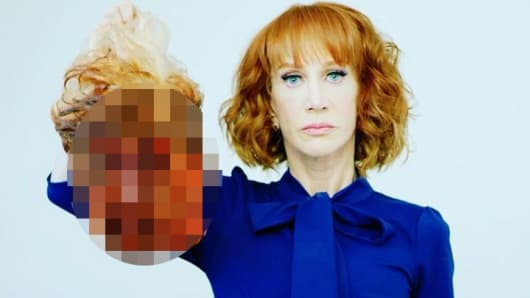 Comedian Kathy Griffin posted this photo on social media.