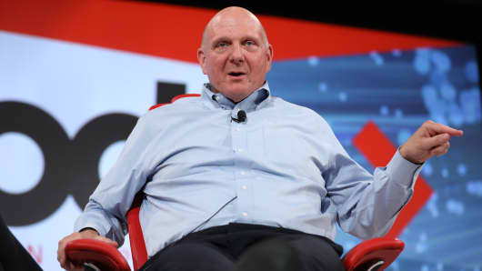Steve Ballmer speaking at the ReCode Conference on May 30, 2017.