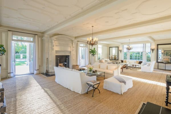 The living room at Villa Maria. Courtesy of Bespoke Real Estate.