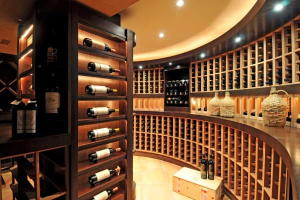 Wine cellar at Villa Maria. Courtesy of Bespoke Real Estate.
