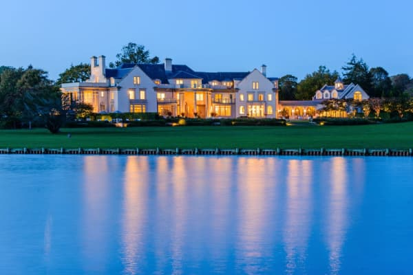 Villa Maria at nighttime. Courtesy of Bespoke Real Estate.