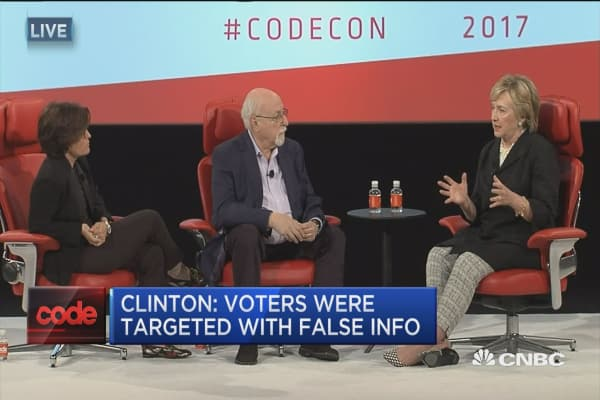 Clinton: Facebook has to curate more effectively