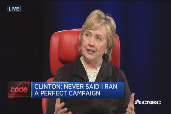 Clinton: I never said I ran a perfect campaign