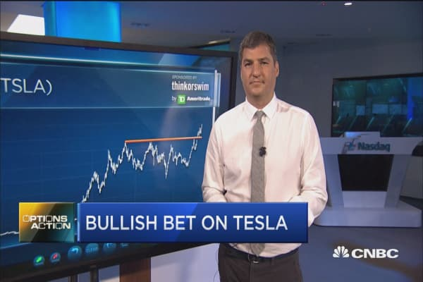 Here's why one trader is making a big bet on Tesla
