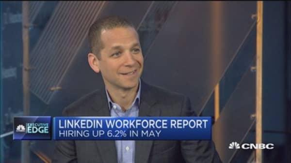 May hiring up 2.4% YOY: LinkedIn report
