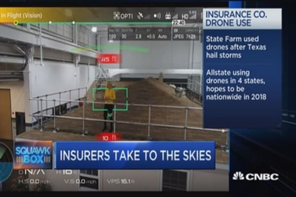 Drones eye hurricane season for insurers
