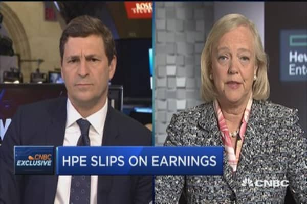 HPE's Meg Whitman: Margins will begin to grow